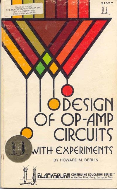Integrator Op Amp. DESIGN OF OP-AMP CIRCUITS,